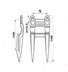 Палець подвійний Жатка Seria 200, 800 Z11228
