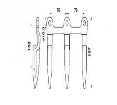 Палець трійний Жатка Seria 200, 800 Н25603