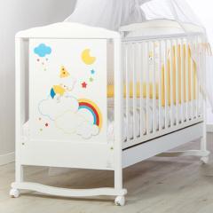 Детская кроватка Italbaby Deco White Happy Colours