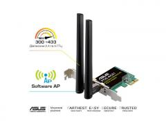 ASUS PCE-AC51 802.11ac WiFi-adapter, 2.4/5 GHz,