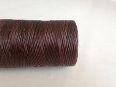 Нитка вощёная, коричневого цвета, толщина - 1 мм, 500 метров, артикул СК 5023