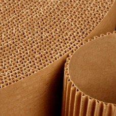 Two-layer corrugated cardboard