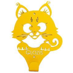 Вешалка настенная Glozis Kitty Yellow
