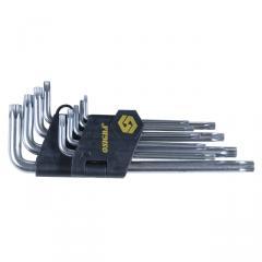 CrV T10-T50mm piece torx 9 keys (long with an