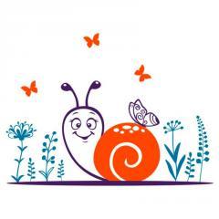 Sticker on Glozis Snail wall