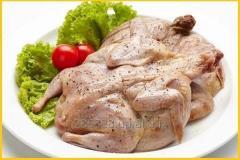 Мясо маринованных перепелов.