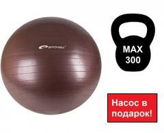 Спортивный мяч, мяч для фитбола Spokey Fitball ll коричневый 75 см