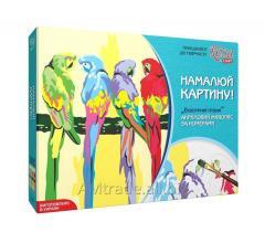 Набор для творчества Rosa Start Экзотические птицы Акриловая живопись по номерам