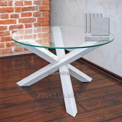 Glass table in modern style