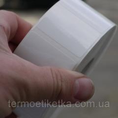 Этикетка полипропиленовая 40х25