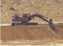 Sand forming and construction Polozhsky field.