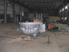 We manufacture arc furnaces of direct and
