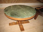 Журнальный стол с мраморной плитой, круглый