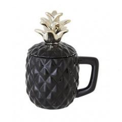 Кружка для коктейля, d 9 х h 10 х 17.5 см, черная, Pineapple