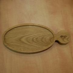 Деревянная доска для подачи блюд с ручкой, 350*150*20 мм