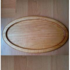 Овальная деревянная доска для подачи, 350*200*22 мм