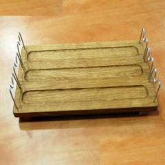 Деревянная доска для подачи шашлыка, 360*230*25 мм