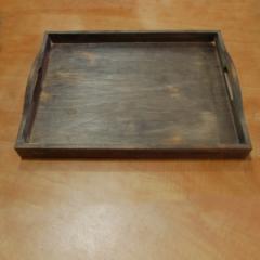 Деревянный поднос с ручками, 440*330*40 мм