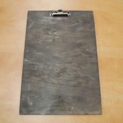 Деревянный планшет для записей с зажимом, 230*340*50 мм