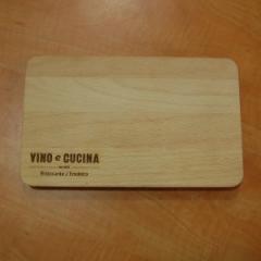 Деревянная доска для подачи блюд со скругленными углами, 240*150*20 мм