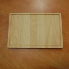Деревянная доска для подачи блюд с желобком, 300*200*20 мм
