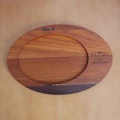 Доска для подачи овальная, 300*200*20 мм, Термо ясень