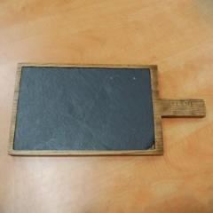 Доска для подачи со сланцем, 370*190*20 мм, ясень
