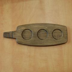 Темная двухсторонняя деревянная доска для подачи, 290*130*20 мм