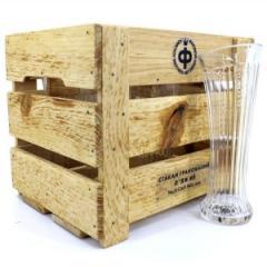 Набор бокалов высоких, 6 шт + ящик деревянный