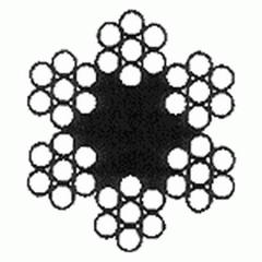 Канат двойной свивки типа ЛК-О 6×7(1+6)+о.с.