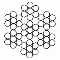 Канат двойной свивки типа ЛК-О 6×7(1+6)+1×7(1+6)