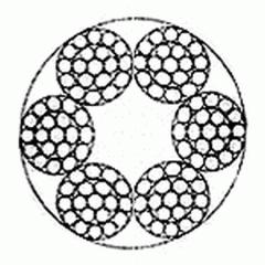 Канат стальной двойной свивки многопрядный