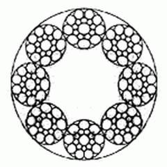 Канат двойной свивки многопрядный типа ЛК-РО
