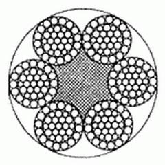 Канат стальной двойной свивки типа ТЛК
