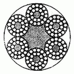 Канат стальной двойной свивки 6×24(FE+9+15)+7FE