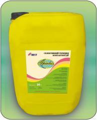 Післясходовий гербіцид для боротьби з однорічними двосім'ядольними бур'янами в посівах гороху та сої.