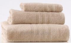 Махровые полотенца 50Х90, цвет бежевый