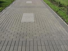 Бруківка пресована 20х10х6-сіра.(Тротуарна плитка)