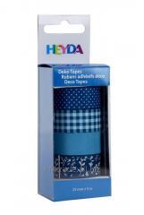 Набор бумажных скотчей «Синий», 4шт, Heyda