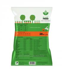 The organic granulated fertilizer on the basis of