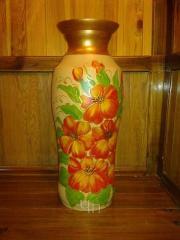 Vases are floor