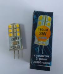 Лампа светодиодная 3W G4 180Lm 300* 4000K 220V,