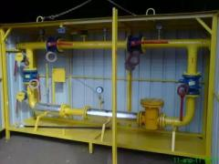 Metering station of natural gas of cupboard type.