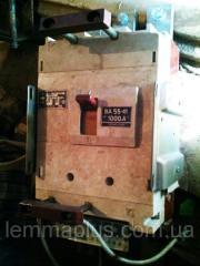 Автоматический выключатель ВА 5541 1000А стационарный с ручным приводом (складского хранения)