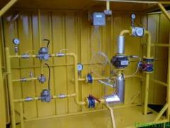 Gas control points with gas metering station of