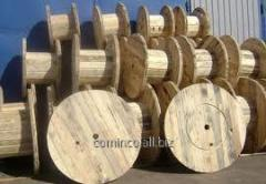 Cable reels and rope drums wooden