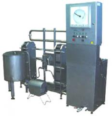 Set of the equipment for pasteurization of