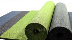 Rubber covering of technical rooms and production