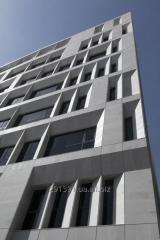 Architectural concrete on a facade