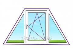 Металлопластиковое окно в форме трапеции